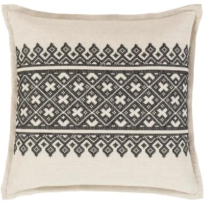 Chilton Black Geometric Polyester 20 in. x 20 in. Throw Pillow