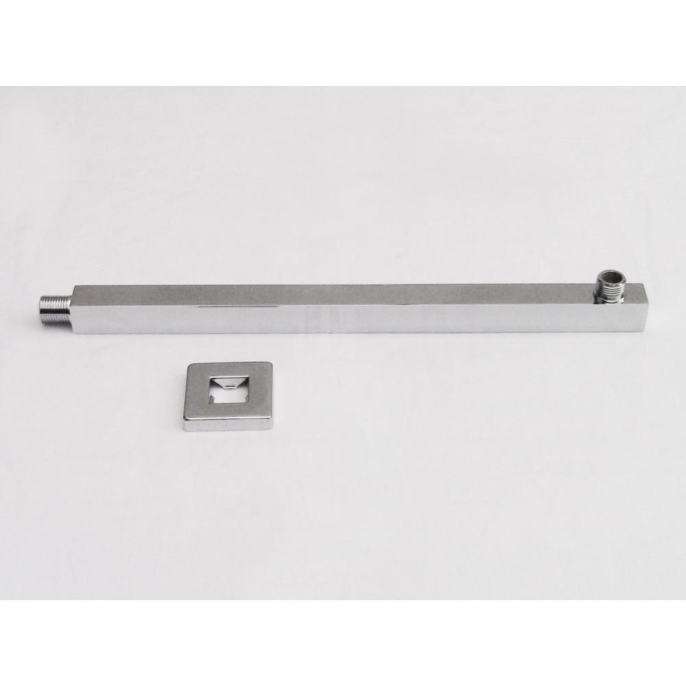 16 in. Wall Mount Shower Arm in Brushed Nickel