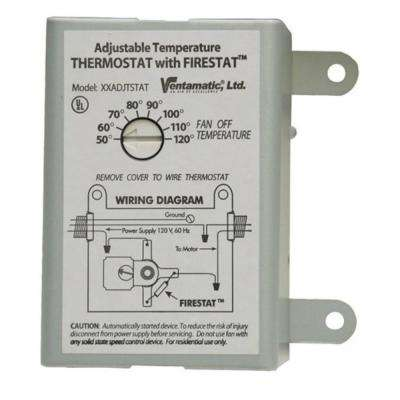 Cool Attic 10-Amp Programmable Thermostat with Firestat
