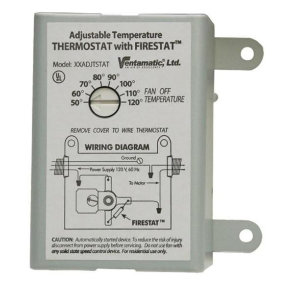 cool attic 10amp programmable thermostat with firestat