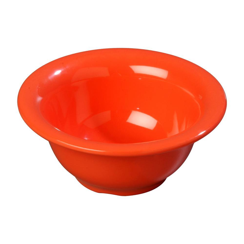 Durus 10 oz. Sunset Orange Melamine Rimmed Nappie Bowl (24-Pack)