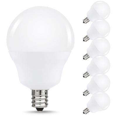 40-Watt Equivalent 5W G15 Non-Dimmable Global LED Light Bulb E12 Base in Daylight White 6000K (6-Pack)