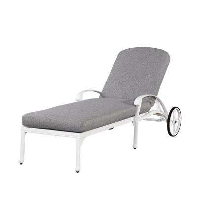 Floral Blossom White All-Weather Chaise ...  sc 1 st  Home Depot : white chaise - Sectionals, Sofas & Couches