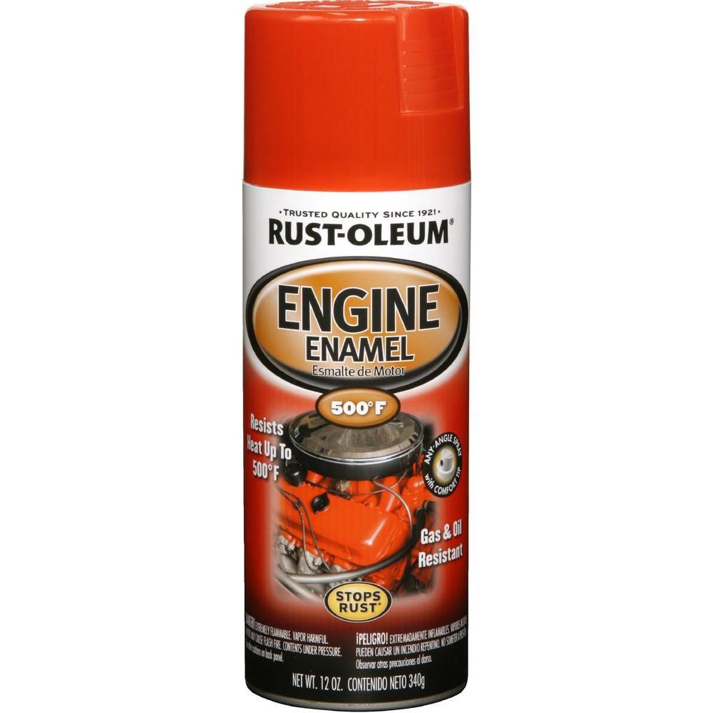 12 oz. 500 Degree Chevy Red Orange Engine Enamel Spray Paint (6-Pack)