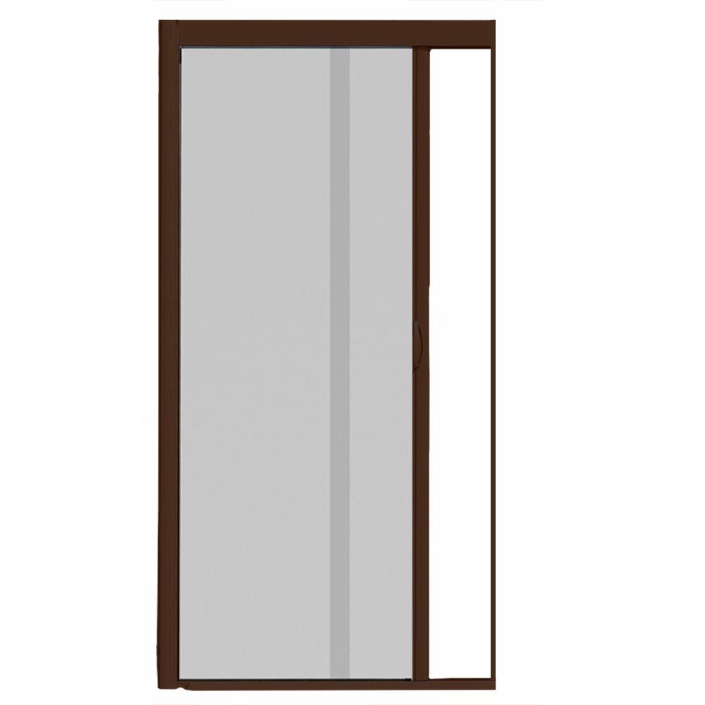 44 in. x 84 in. VS1 Brownstone Retractable Screen Door, Single Cassette