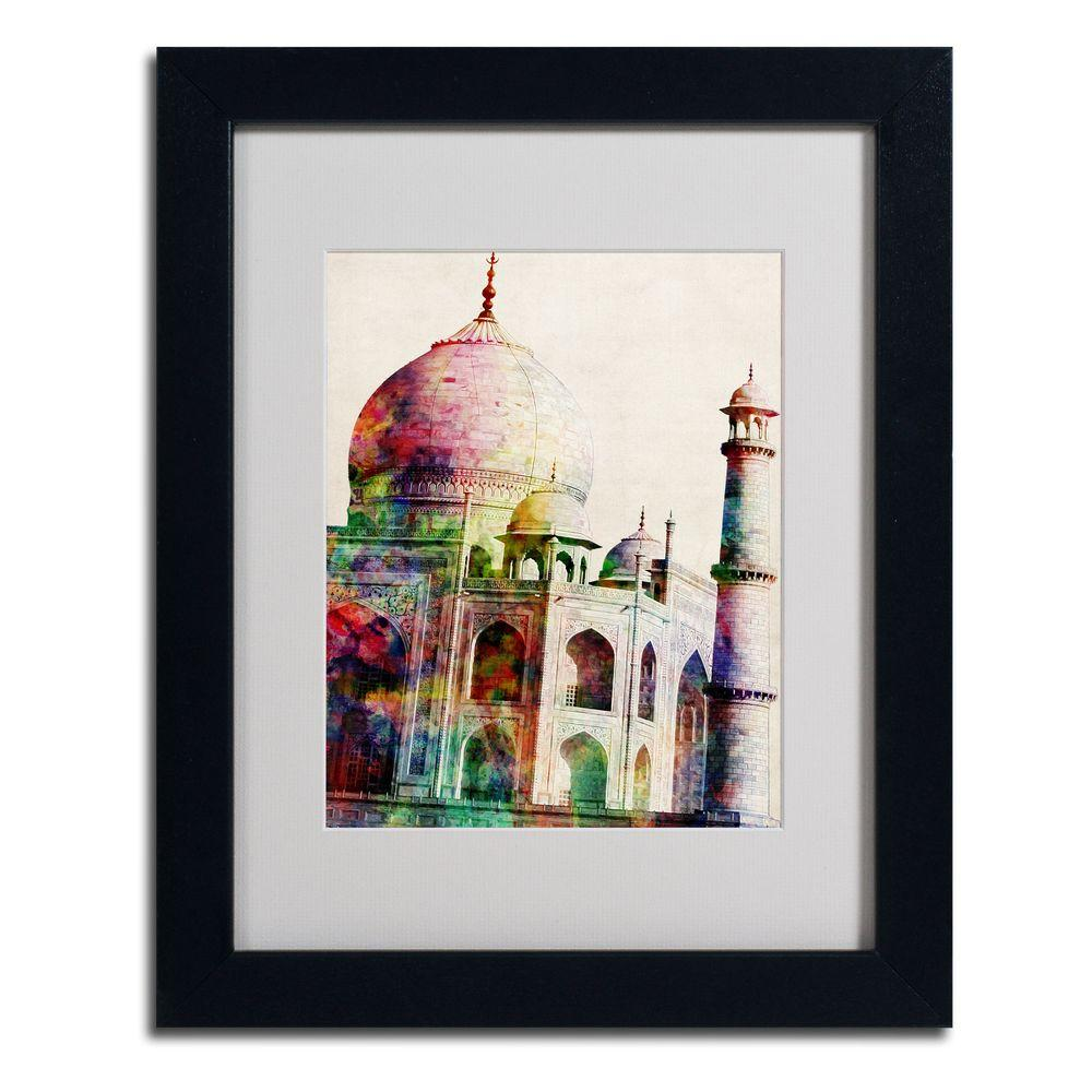 11 In X 14 In Taj Mahal Framed Matted Art Mt0191 B1114mf