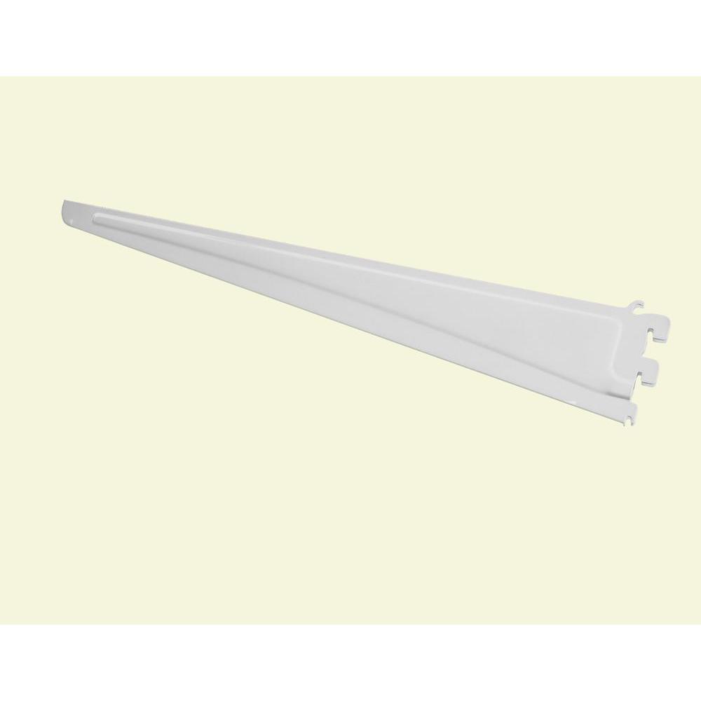 ClosetMaid ShelfTrack 20 in. x .5 in. White Shelf Bracket