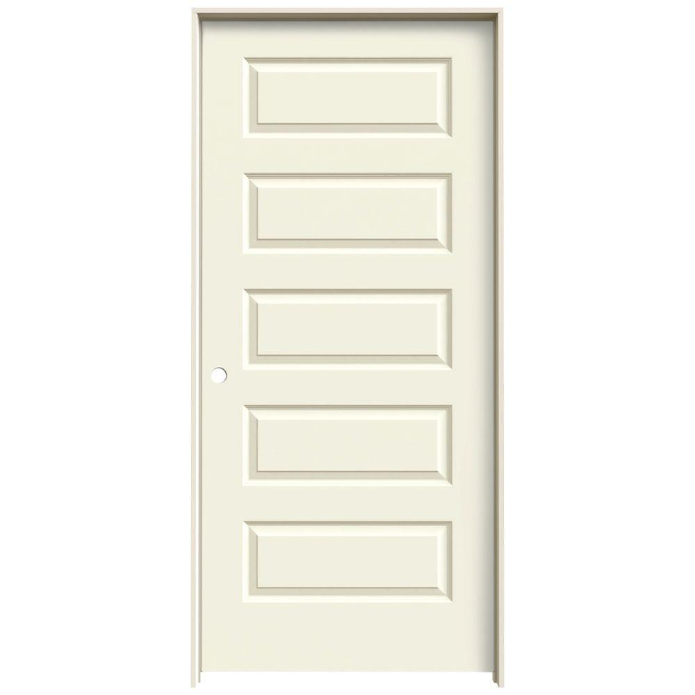 JELD-WEN 36 In. X 80 In. Rockport Vanilla Painted Right