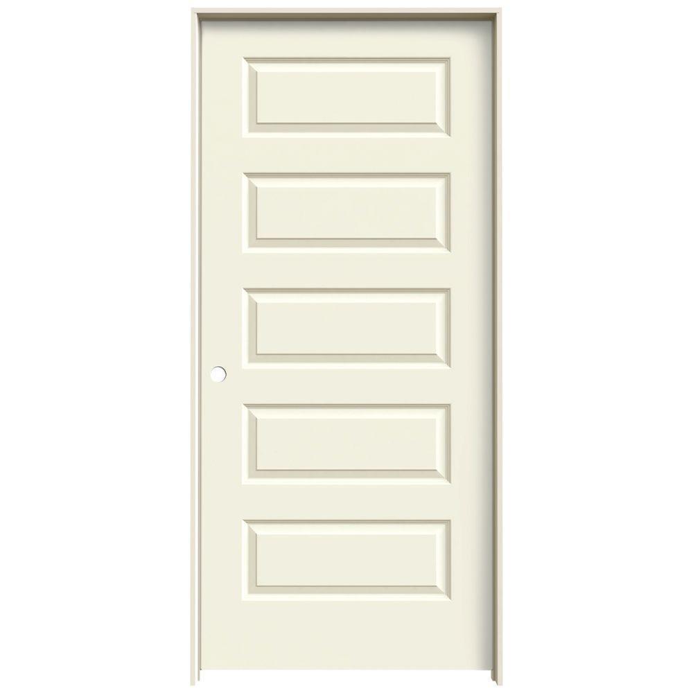 Jeld-Wen 36 in. x 80 in. Rockport Vanilla (White) Painted...