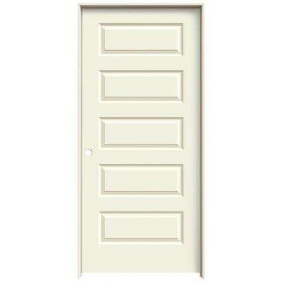 36 in. x 80 in. Rockport Vanilla Painted Right-Hand Smooth Molded Composite MDF Single Prehung Interior Door