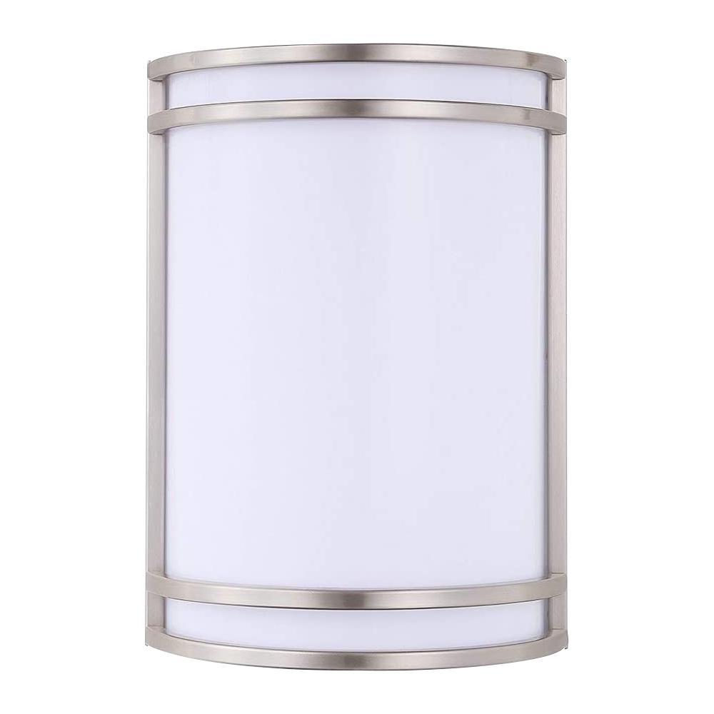 1-Light 60-Watt Equivalent LED Satin Nickel Wall Sconce
