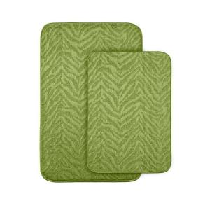 garland rug zebra lime green 20 in x 30 in. washable