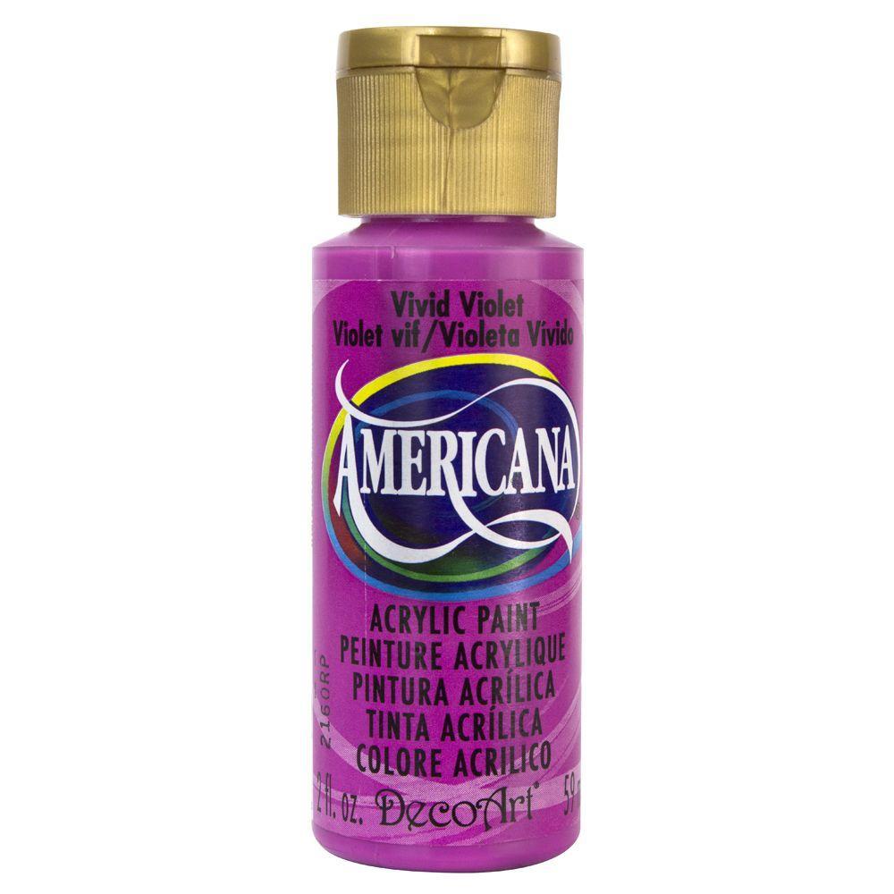 Americana 2 oz. Vivid Violet Acrylic Paint