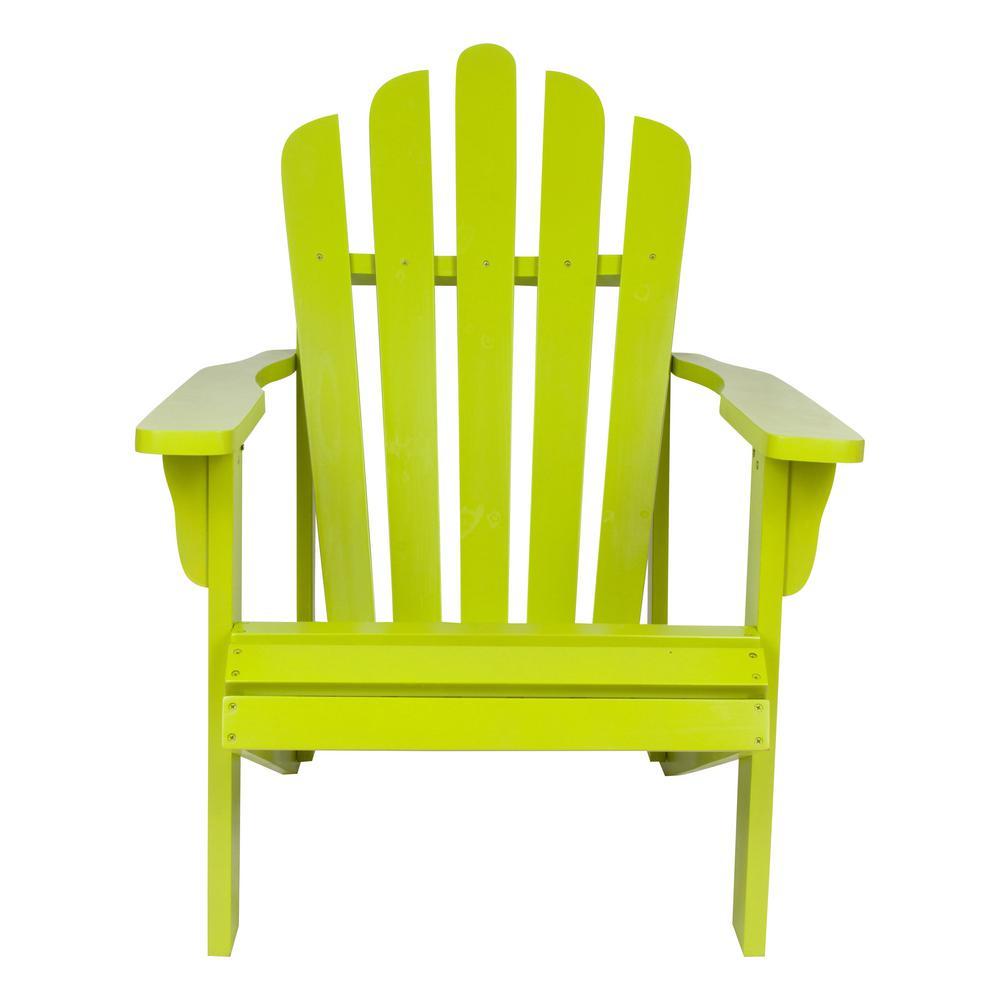 Westport Lime Green Cedar Wood Adirondack Chair