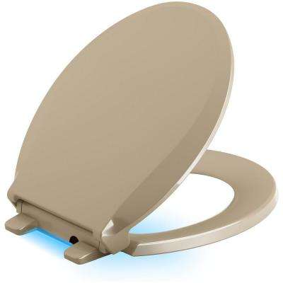 Cachet LED Nightlight Round Quiet Closed Front Toilet Seat in Mexican Sand