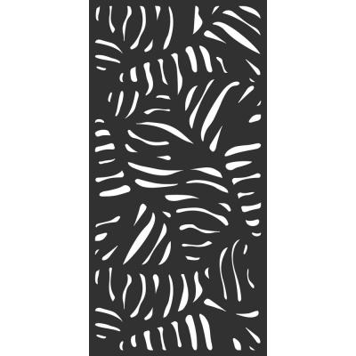 6 ft. x 3 ft. Charcoal Gray Decorative Composite Fence Panel Featured in Panama Design