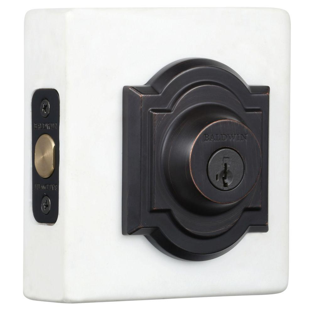 Prestige Venetian Bronze Single Cylinder Arched Deadbolt featuring SmartKey