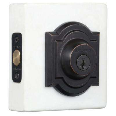 Prestige Single Cylinder Venetian Bronze Arched Deadbolt Featuring SmartKey Security