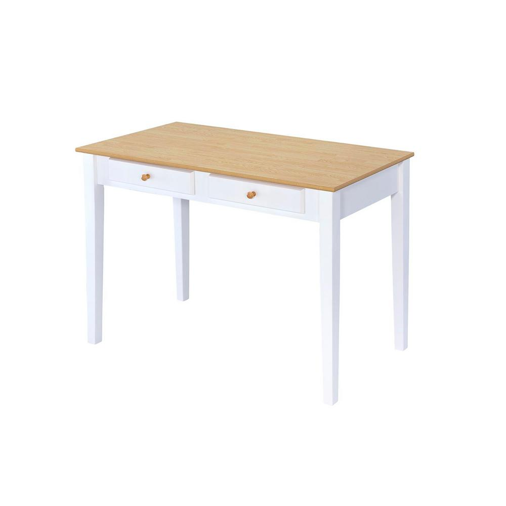 Ore International Cottage White Oak Top Writing Desk Th 1000 The