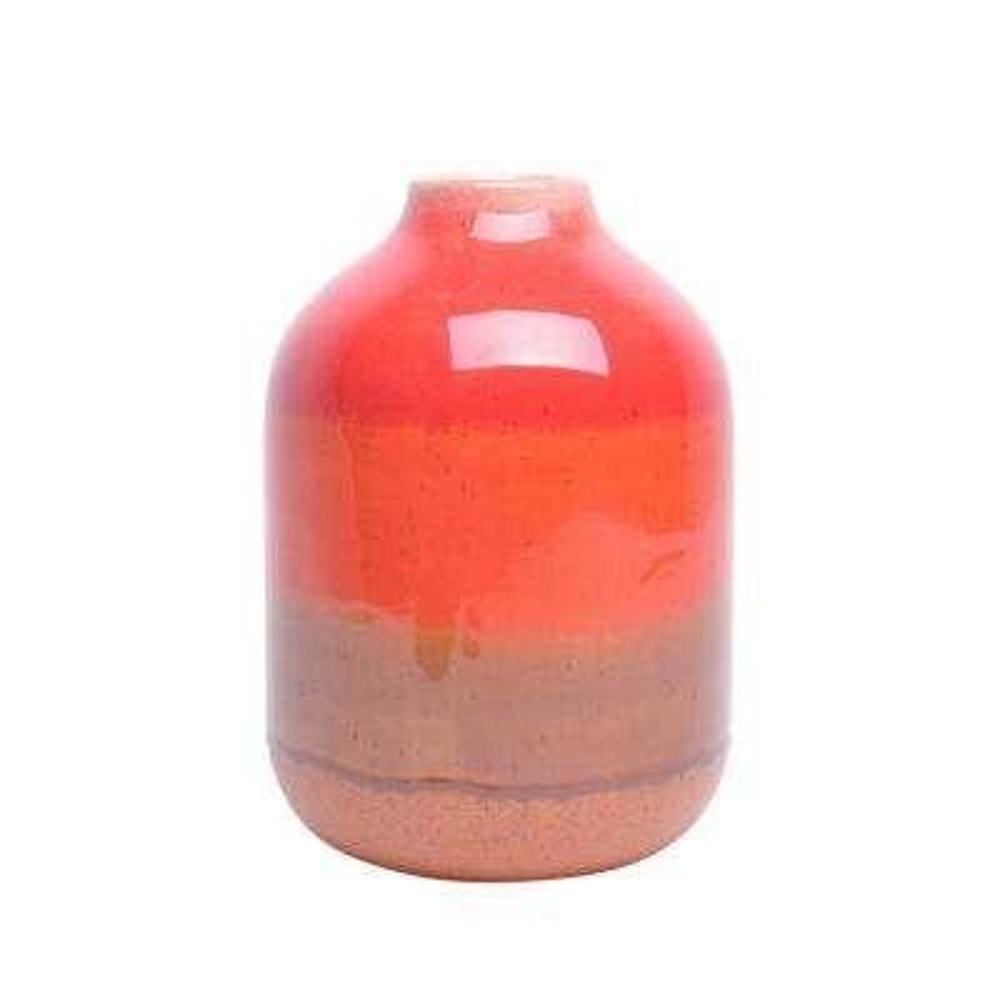 4.25 in. Orange Mix Ceramic Vase