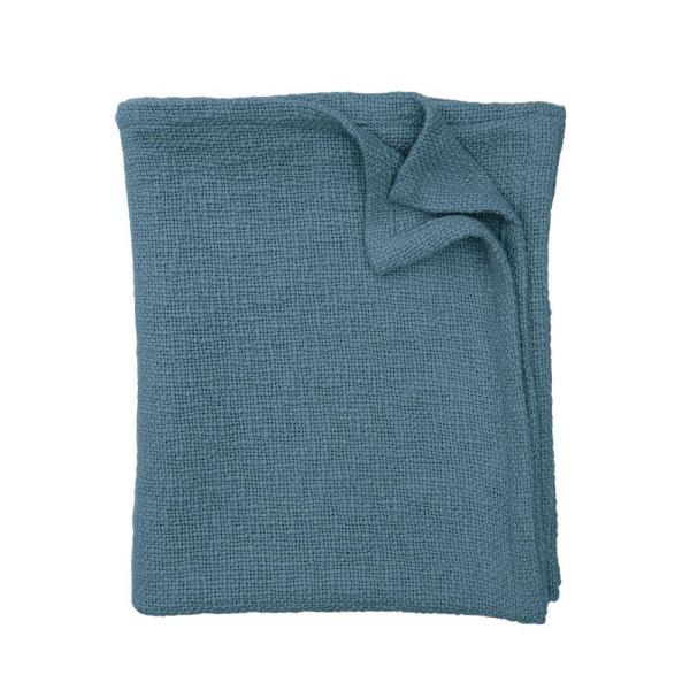 The Company Store Blue Stone Cotton King Cloud Blanket KO51-K-BLUE-STONE