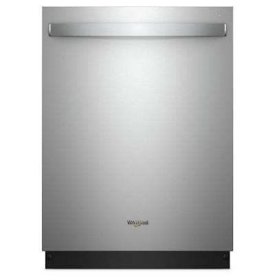 24 in. Top Control Built-In Dishwasher in Fingerprint Resistant Stainless Steel with Stainless Steel Tub