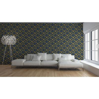 Nomad Collection Stalks in Golden Night Removable and Repositionable Wallpaper