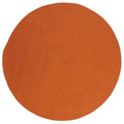 Trends Tangerine 4 Ft. X 4 Ft. Braided Round Area Rug