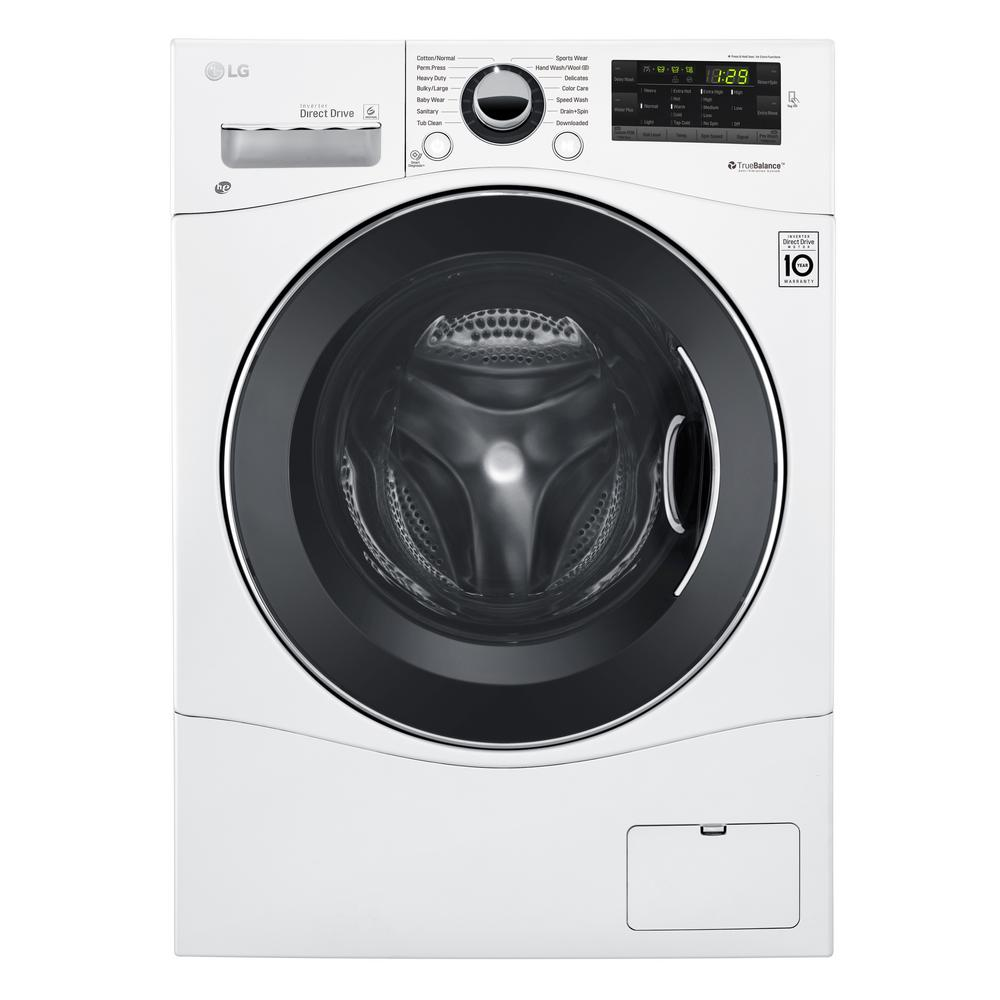LG 2.3 cu. ft. High-Efficiency Front Load Washer in White...