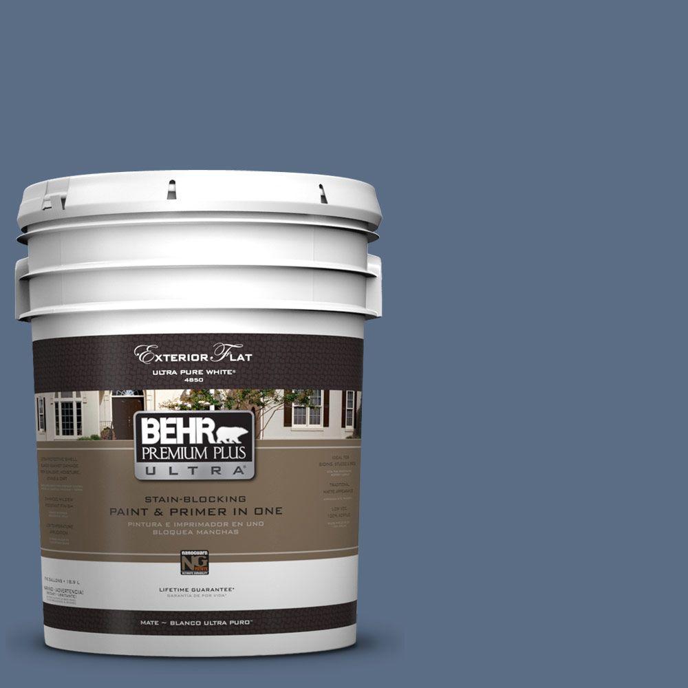 BEHR Premium Plus Ultra 5-gal. #UL240-20 Sausalito Port Flat Exterior Paint