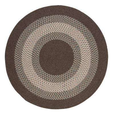 Chancery Bark 6 ft. x 6 ft. Round Braided Area Rug