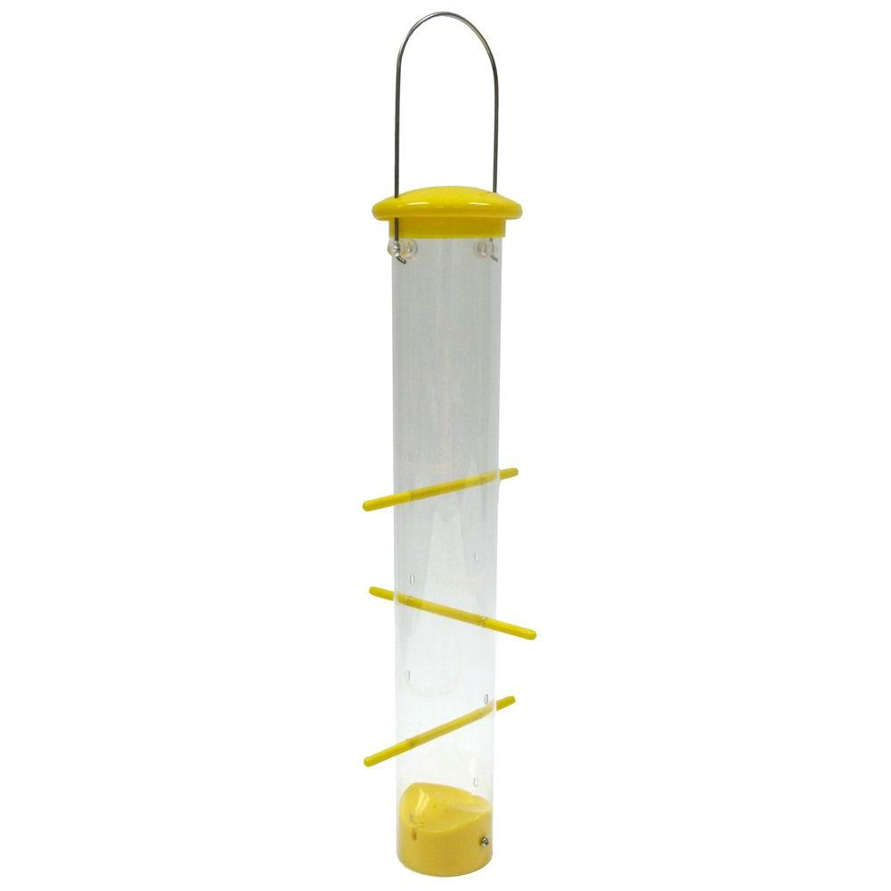Tails Up Upside Down Finch Bird Feeder, Yellow