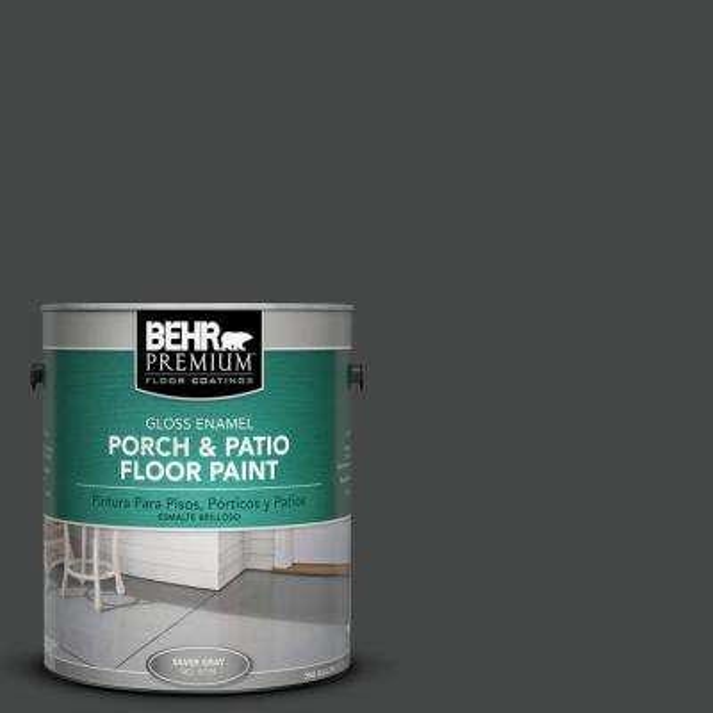 1 gal. #PPU26-23 Black Boudoir Gloss Porch and Patio Floor Paint
