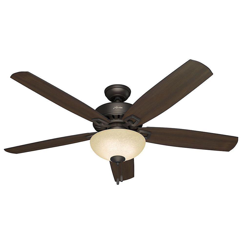 Hunter groveland 60 in indoor premier bronze ceiling fan with indoor premier bronze ceiling fan with light aloadofball Images