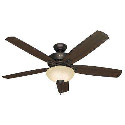 Groveland 60 in. Indoor Premier Bronze Ceiling Fan with Light