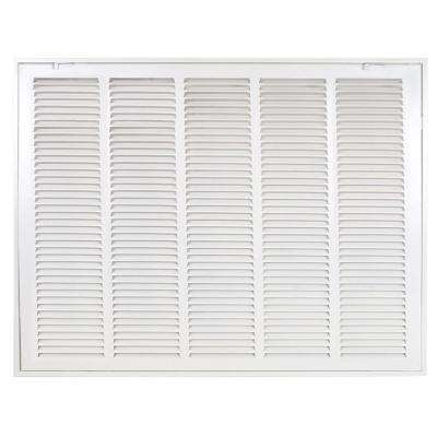 25 in W x 20 in H White Return Air Filter Grille is Designed to Cover Rectangular Duct Opening 25 in W x 20 in H