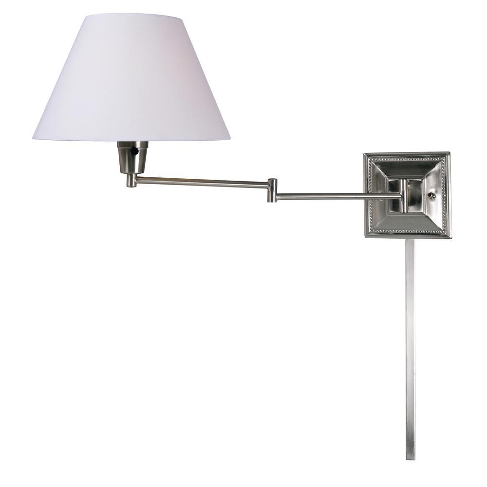 Denman 13 in. 1-light Steel Wall Swing Arm Lamp