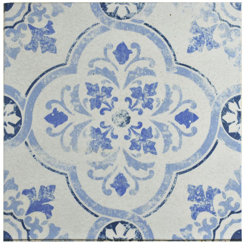 Merola Tile Klinker Alcazar Celosia Encaustic 12-3/4 in. x 12-3/4 in. Ceramic Floor and Wall Quarry Tile