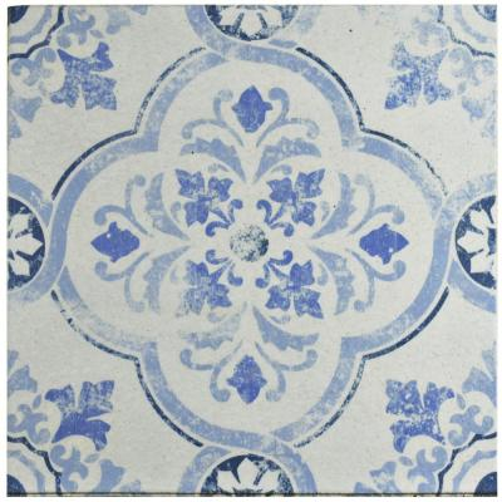 Klinker Alcazar Celosia Encaustic 12-3/4 in. x 12-3/4 in. Ceramic Floor and Wall Quarry Tile