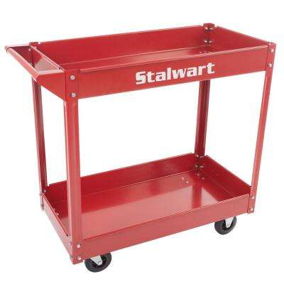 33 in. Metal Utility Cart (2-Tray)