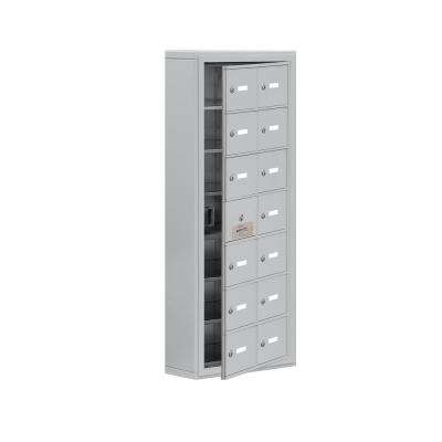 19100 Series 17.5 in. W x 42 in. H x 6.25 in. D 13 Doors Cell Phone Locker Surface Mount Keyed Lock in Aluminum