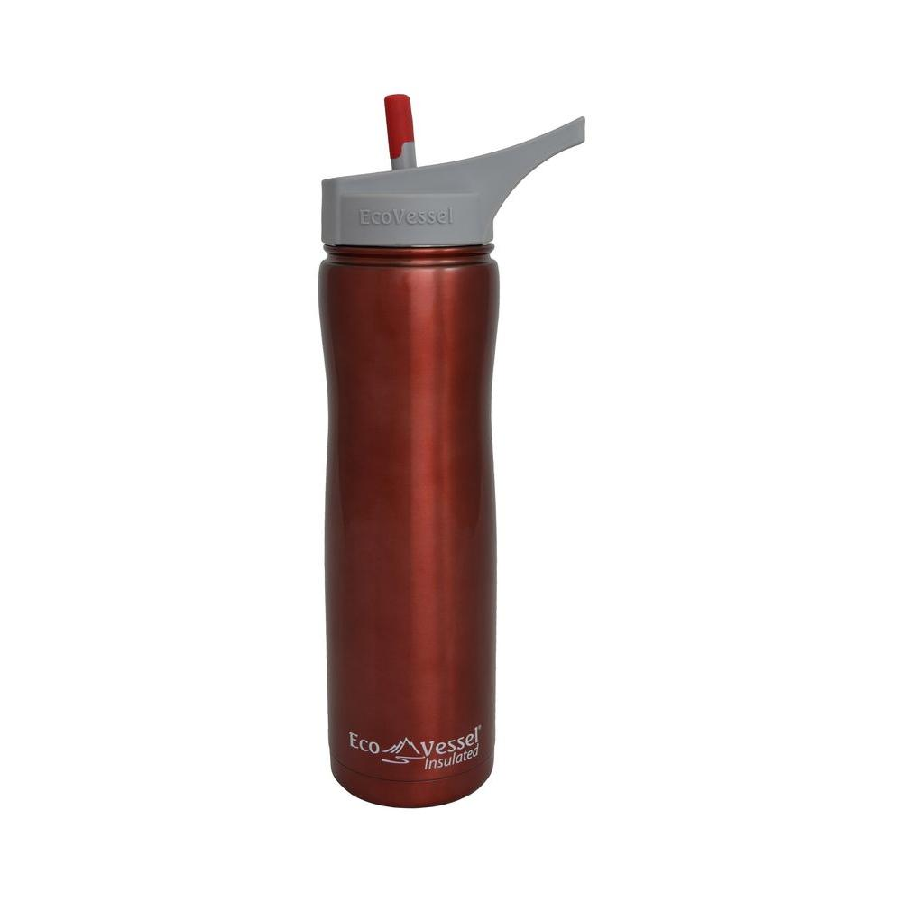 Eco Vessel Summit Triple Insulated 24 fl. oz. Stainless Steel Bottle with Flip Straw