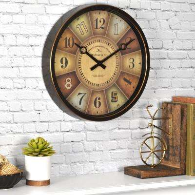 12 in. H Color Wheel Clock