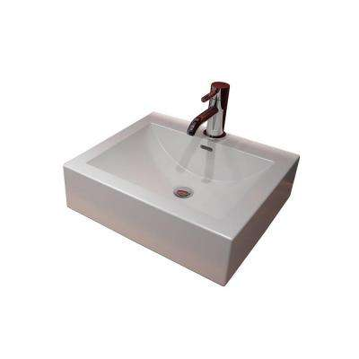 Cantrio Console Sink Countertop in White