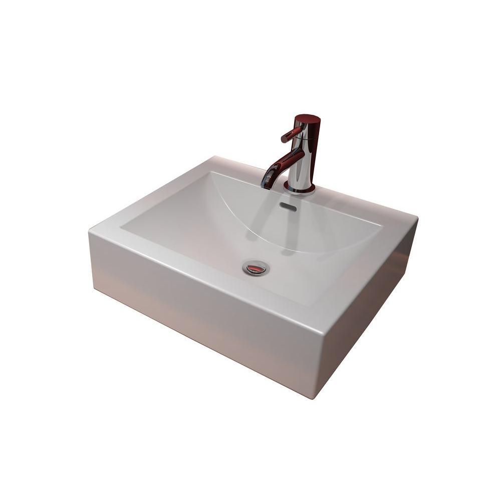 Cantrio Console Sink Countertop in White