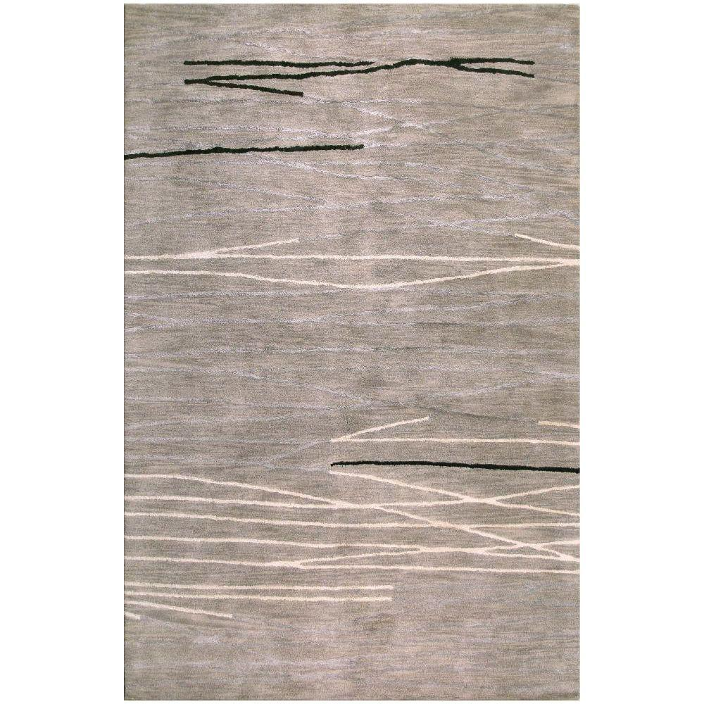 BASHIAN Greenwich Collection Lake Grey 5 ft. 6 in. x 8 ft. 6 in. Area Rug