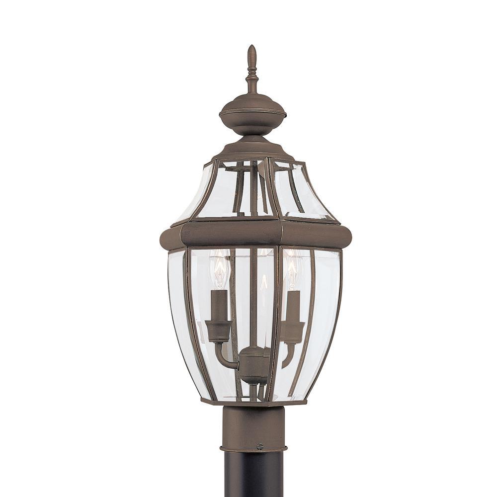 Lancaster 2-Light Outdoor Antique Bronze Post Light