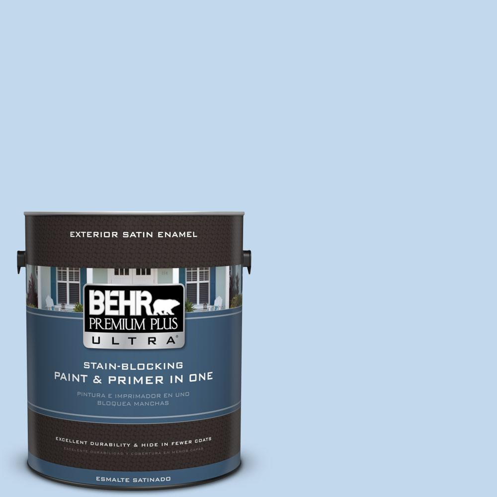 BEHR Premium Plus Ultra 1-gal. #M520-2 After Rain Satin Enamel Exterior Paint