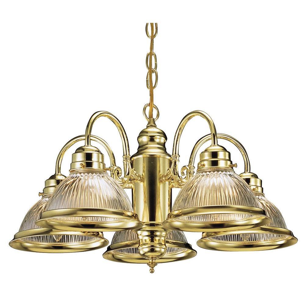 Design House Millbridge 5-Light Polished Brass Chandelier from Outdoor Light Sets