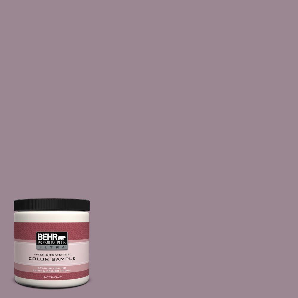 BEHR Premium Plus Ultra 8 oz. #690F-5 Purple Mauve Interior/Exterior Paint Sample